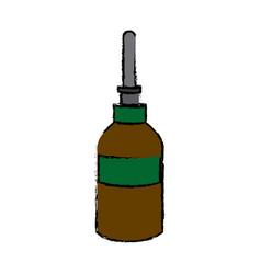 Dropper bottle medical health care vector