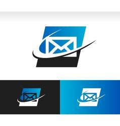 Envelope Swoosh Logo Icon vector image vector image