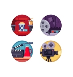 Film industry concept vector