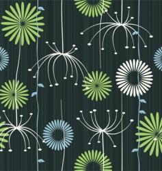floral dandelion background vector image vector image