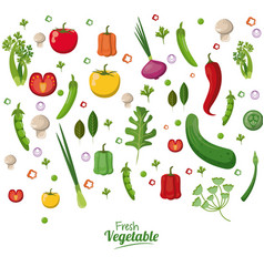 Fresh vegetables organic vegetarian food wallpaper vector