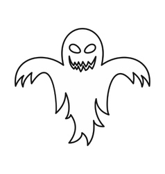 Ghost icon outline style vector image