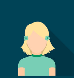 Girl icon flat single avatarpeaople icon from vector