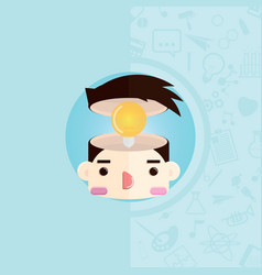 head with bulb vector image
