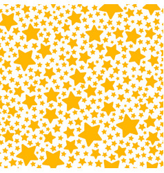 Holiday gift seamless pattern with yellow star vector