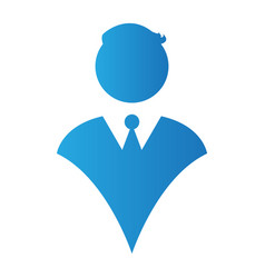 Isolated businessman silhouette vector
