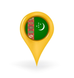 Location Turkmenistan vector image