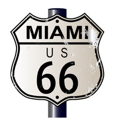 Miami route 66 sign vector