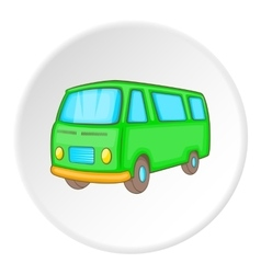 Minibus icon isometric style vector image