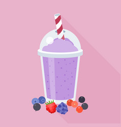 Mixed berry smoothie vector