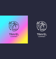 modern bright logo travel company vector image vector image