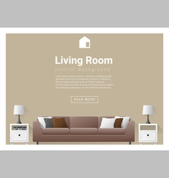 Modern living room interior background 3 vector