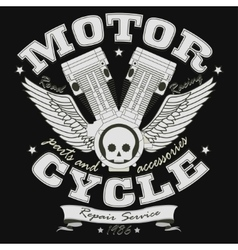 Motorcycle Racing Typography Graphics - vector image vector image