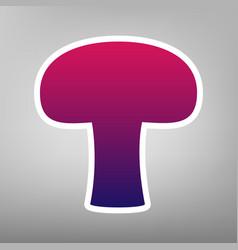 Mushroom simple sign purple gradient icon vector