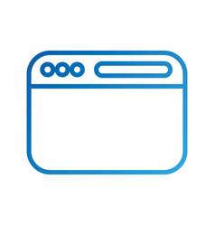 opened website display bar navigation button vector image vector image