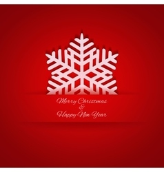 Paper Christmas snowflake in pocket vector image vector image