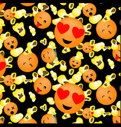 popcorn and smileys vector image vector image