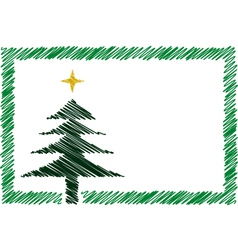 Shaded christmas card vector