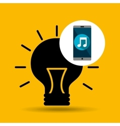 Smartphone music online creativity vector