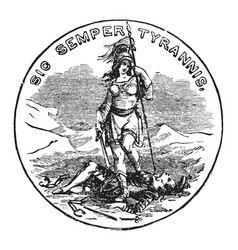 The official seal of the us state of virginia in vector