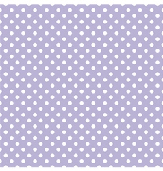Tile pattern with white polka dots on violet blue vector image vector image