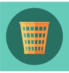Trash Recycle Bin Garbage Flat icon vector image vector image