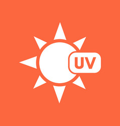 Uv radiation symbol vector