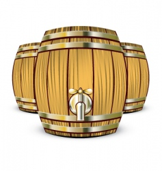 wine barrels vector image vector image