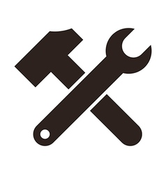 Wrench and hammer vector image