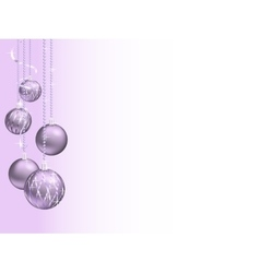 Elegant christmas background with christmas balls vector image