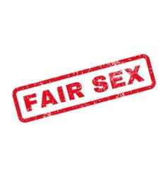 Fair sex text rubber stamp vector