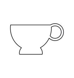 Pictogram cup coffe break time office icon vector