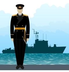 Military Uniform Navy sailor-8 vector image