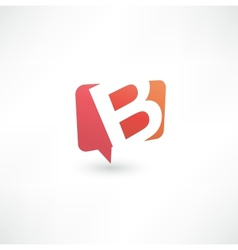 Abstract bubble icon based on the letter b vector