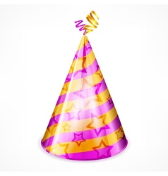 Party hat on white vector