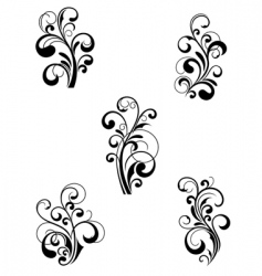 Floral patterns vector