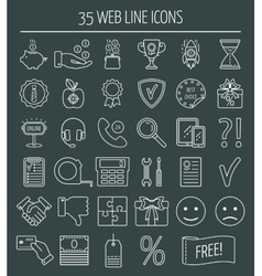 35 linear web design icons line icons for vector