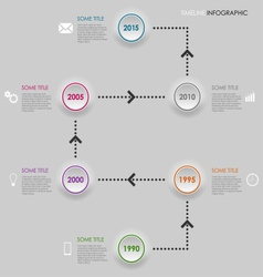 Time line info graphic round element template vector