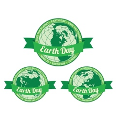 Earth day badget - save the planet vector