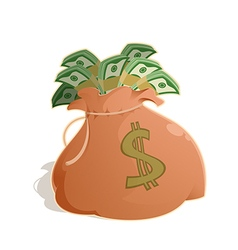 Bag with money vector