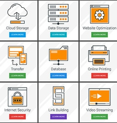 Cloud computing data storage online service vector