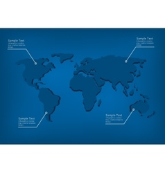 Infographic world map vector image
