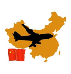 Fly me to the china vector