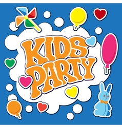 Card for kids party vector