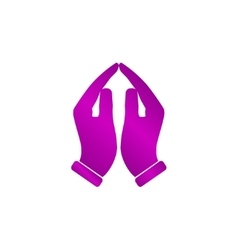 Praying hands icon vector