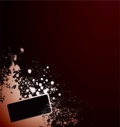 grunge tag corner vector image