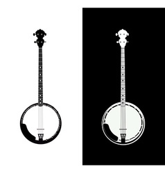 Banjo isolated vector