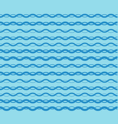 blue graphic waves pattern seamless vector image vector image