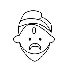 Cartoon man icon Indian Culture design vector image vector image