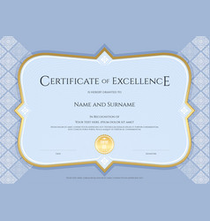 Certificate of achievement template in with vector